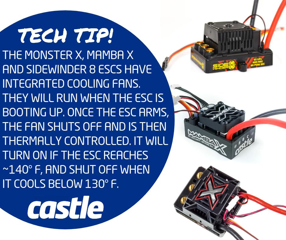 Castle Tech Tip ESC Fans