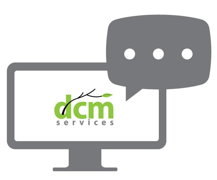 DCMS logo and webinar icon.