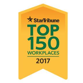 Minneapolis MN Star Tribune Newspapser Top 150 Workplaces logo.