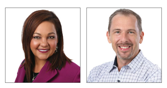 Professional headshots of DeAnna Busby-Rast, new Chief Business Development Officer, and Shawn Brown, new Chief Financial Officer of DCM Services.