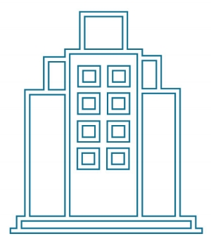 Financial building icon
