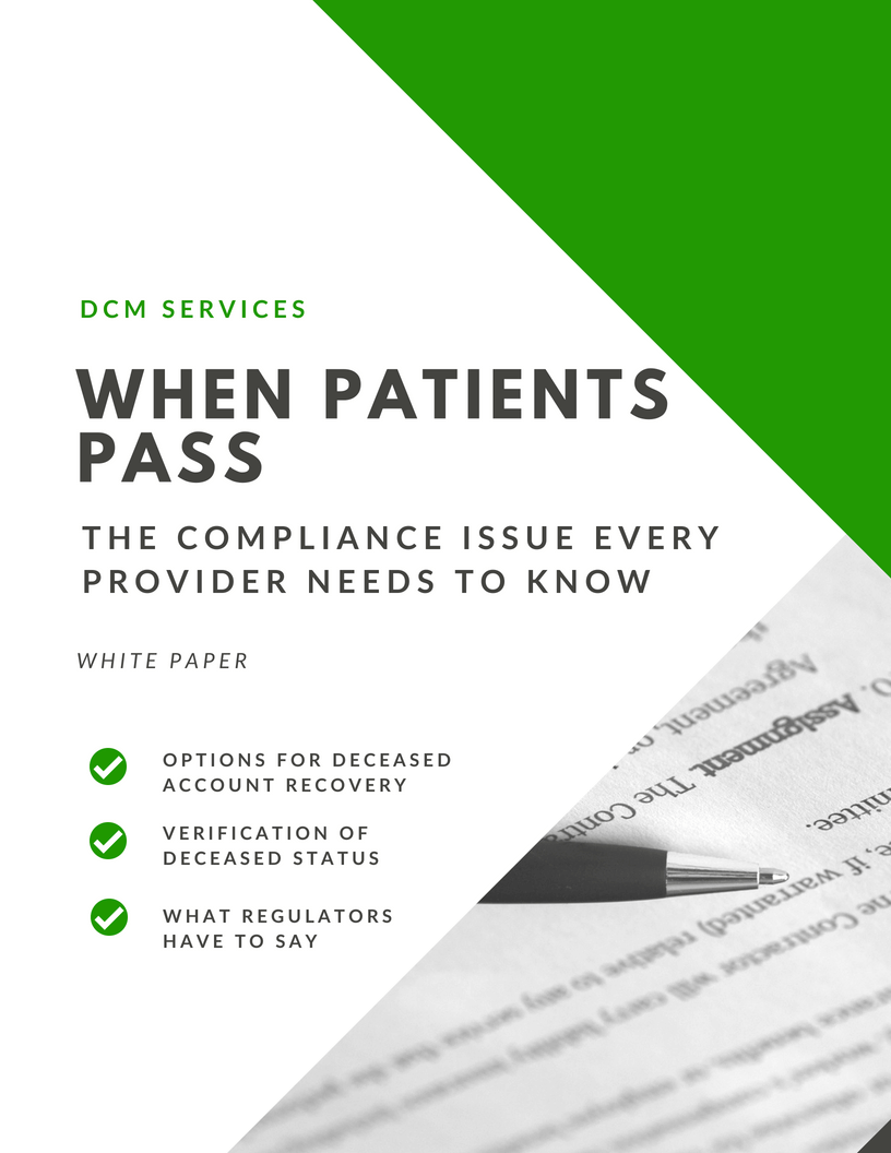 When Patients Pass – The Compliance Issue Every Provider Needs to Know White Paper    Read now