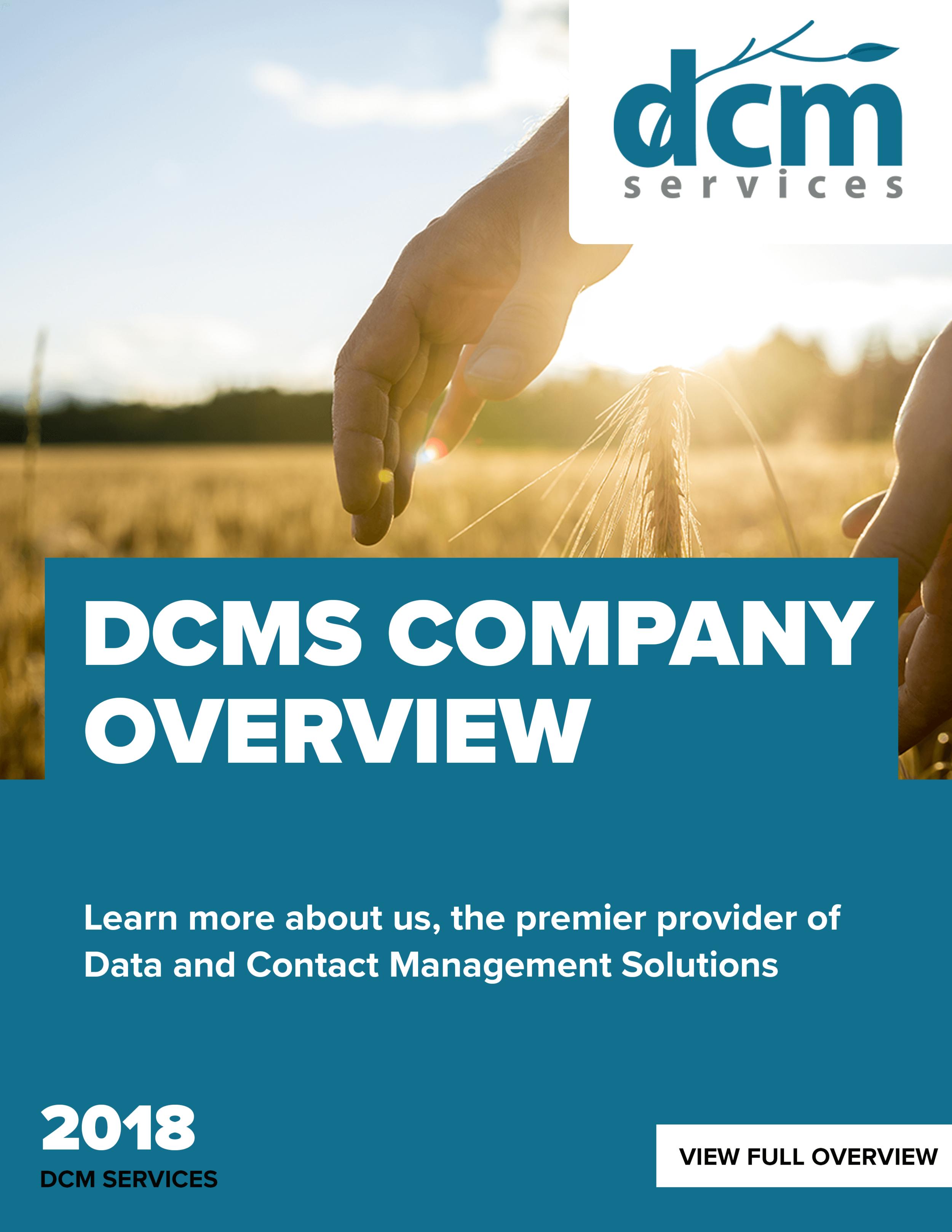 DCM Services Company Overivew | DCM Services