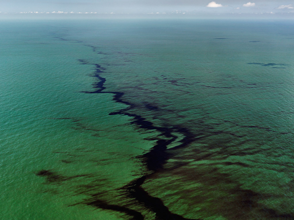 Oil Spill #10  Oil Slick at Rip Tide, Gulf of Mexico, June 24, 2010