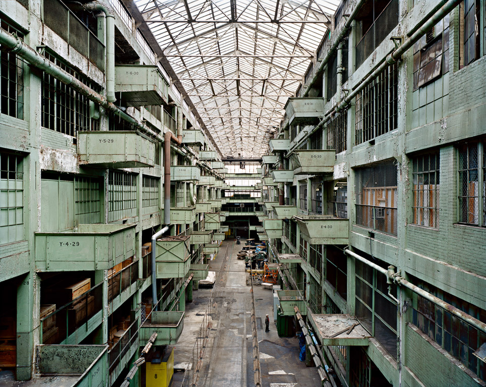 Ford's Highland Park Plant #2, Assembly Line Corridor  Detroit, Michigan, USA, 2008