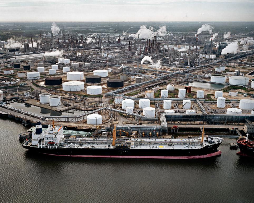 Oil Tanker and Refineries  Pasadena, Texas, USA, 2004