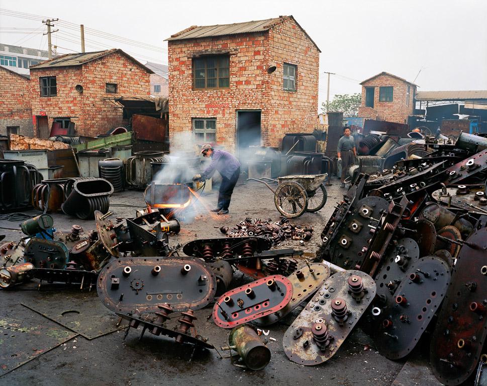 China Recycling #2  Cutter, Fengjiang, Zhejiang Province, China 2004