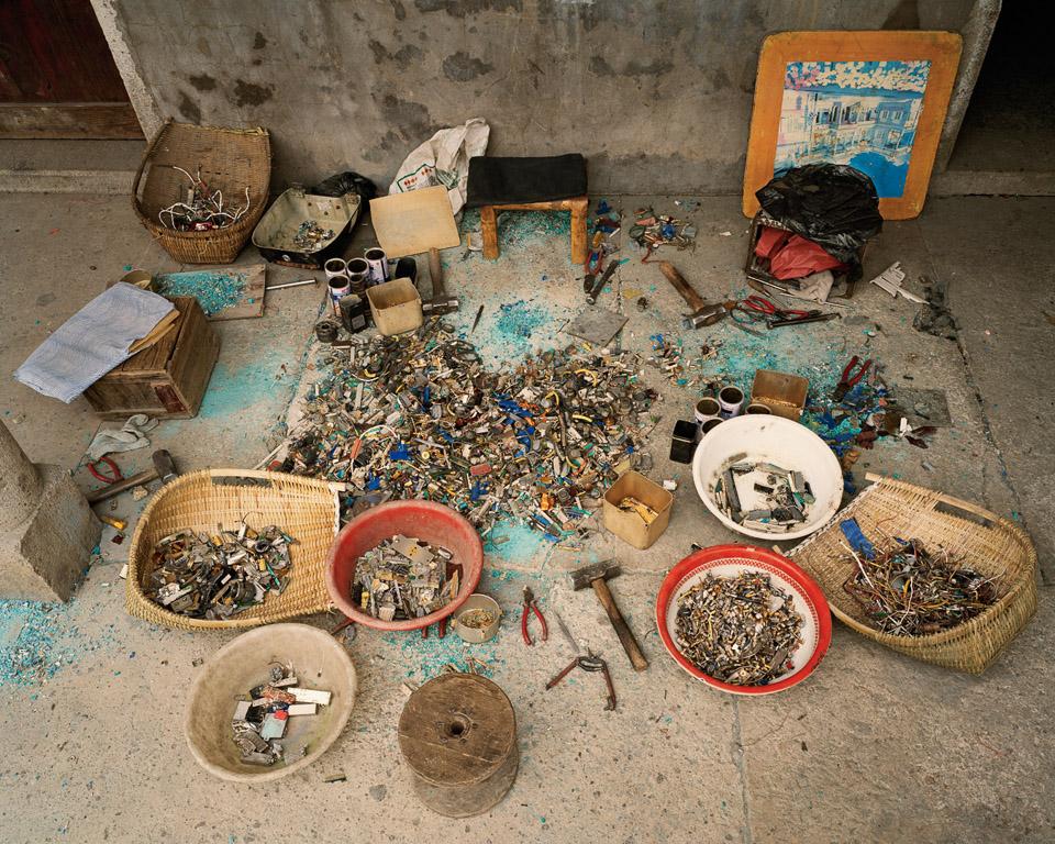 China Recycling #12  Waste Sorting, Zeguo, Zhejiang Province, China, 2004
