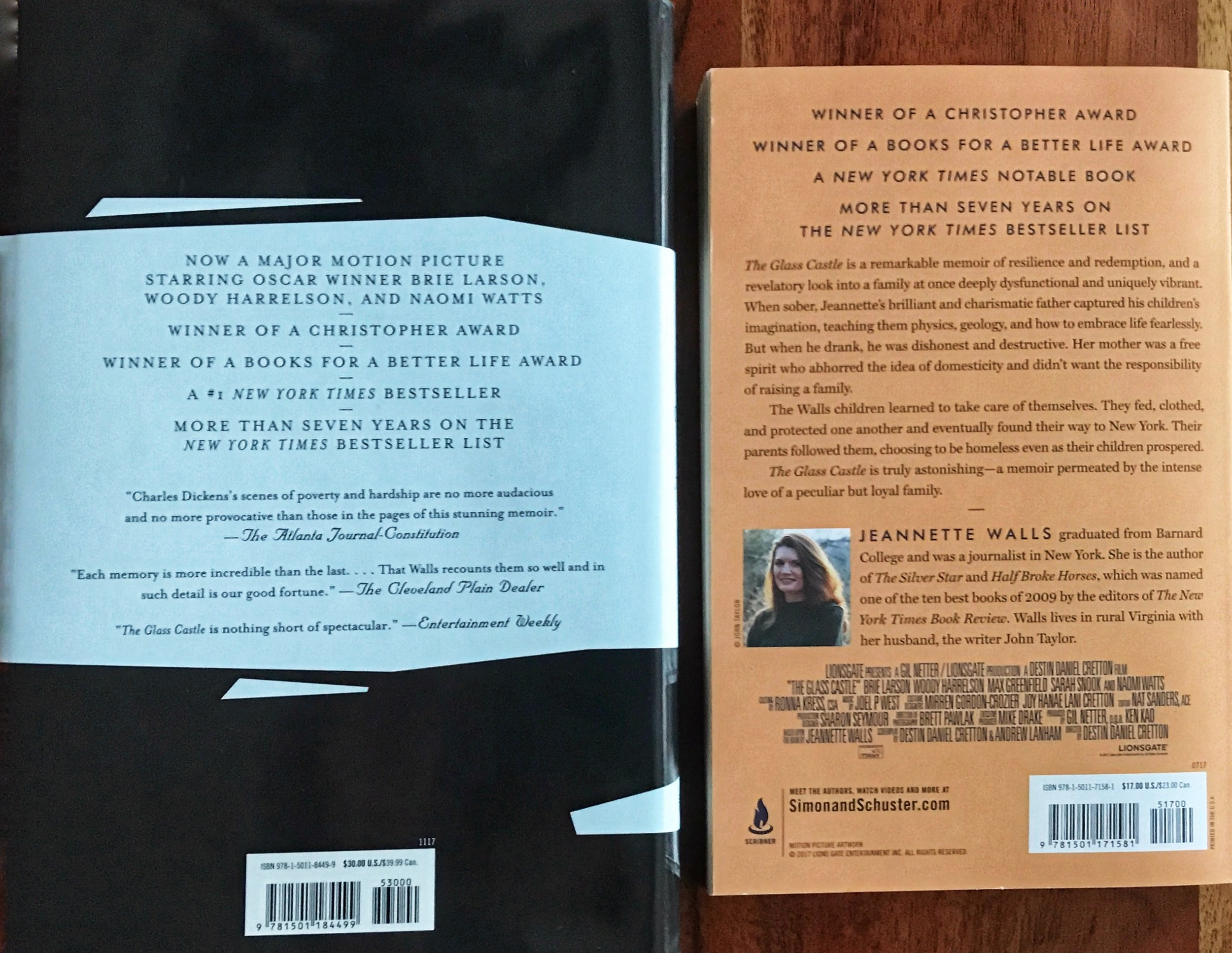 Notice the use of negative space in the hardcover edition. The book jacket is more artistic and more of a selling feature. The paperback back cover is less dynamic; though, equally informative. Ultimately, you'll find the same content in both books; however, the allocation of space varies.