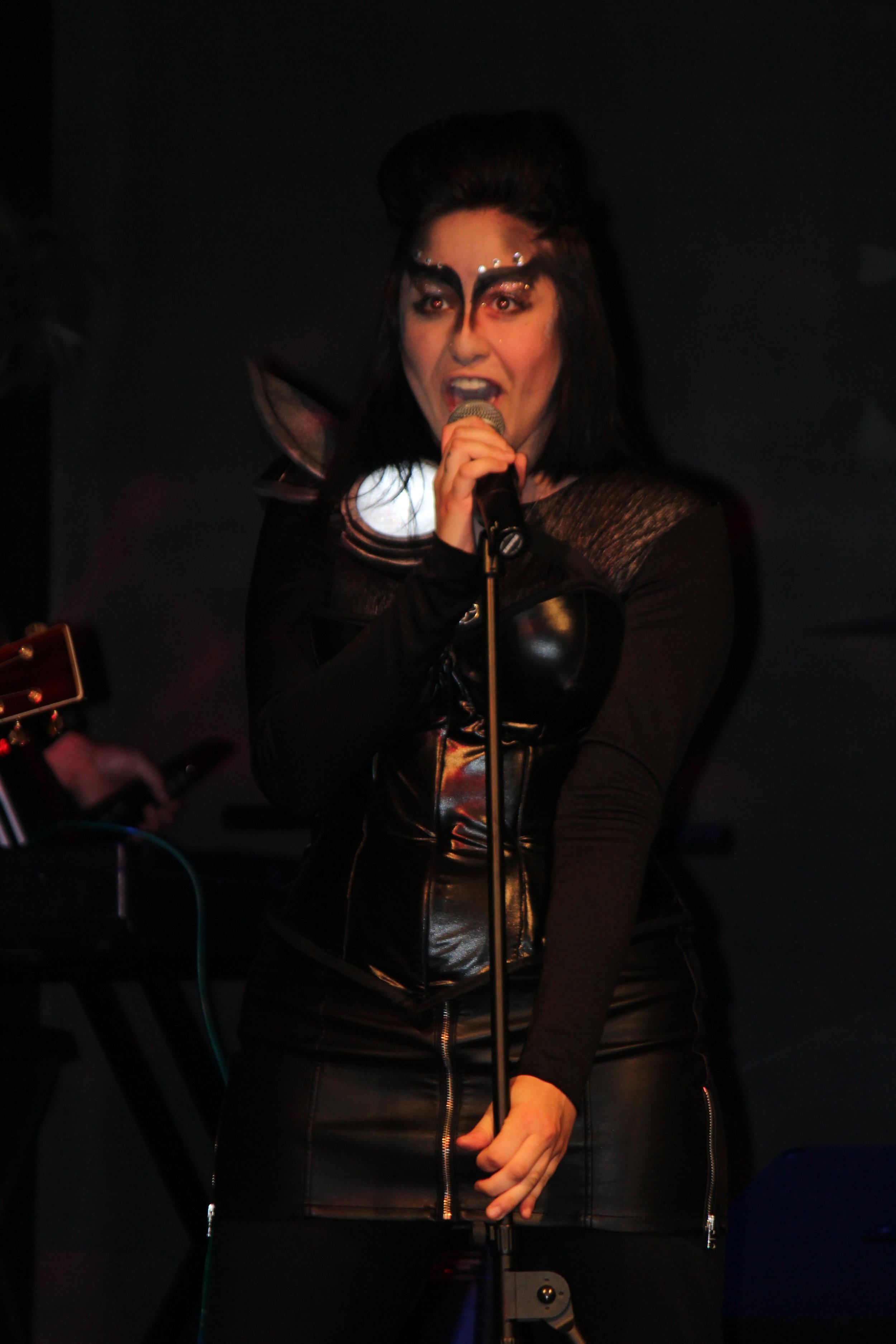 Maya owns the mic.JPG