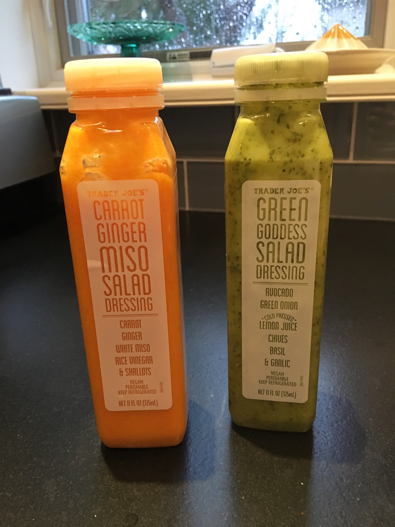 Salad Dressing - Carrot Ginger Miso &Green Goddess DressingsWhy I love them:You know how other people's salads always taste better than your own? These dressings will make your salad taste like you bought it somewhere fancy.