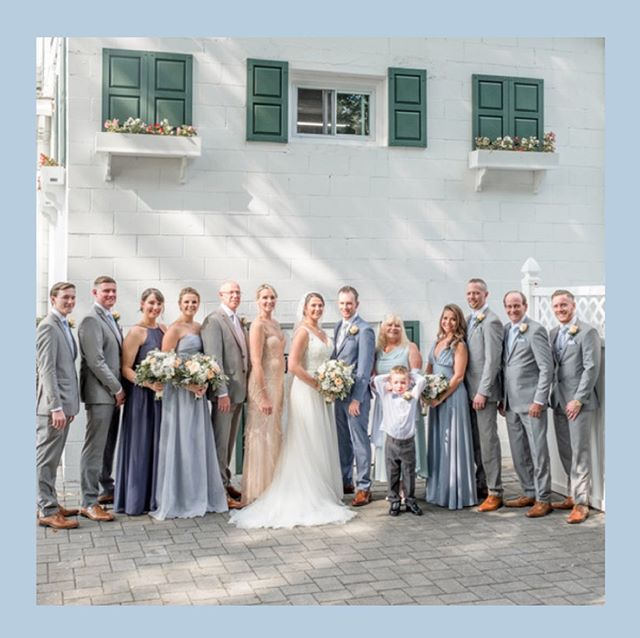 When your something blue 💙 is everyone in your entourage. Sometimes it's not in the things but in the people who love and support you 💙  #happilyeverhanlon817  #theadriannephoto #nycrealweddings #longislandweddings #seacliffmanor