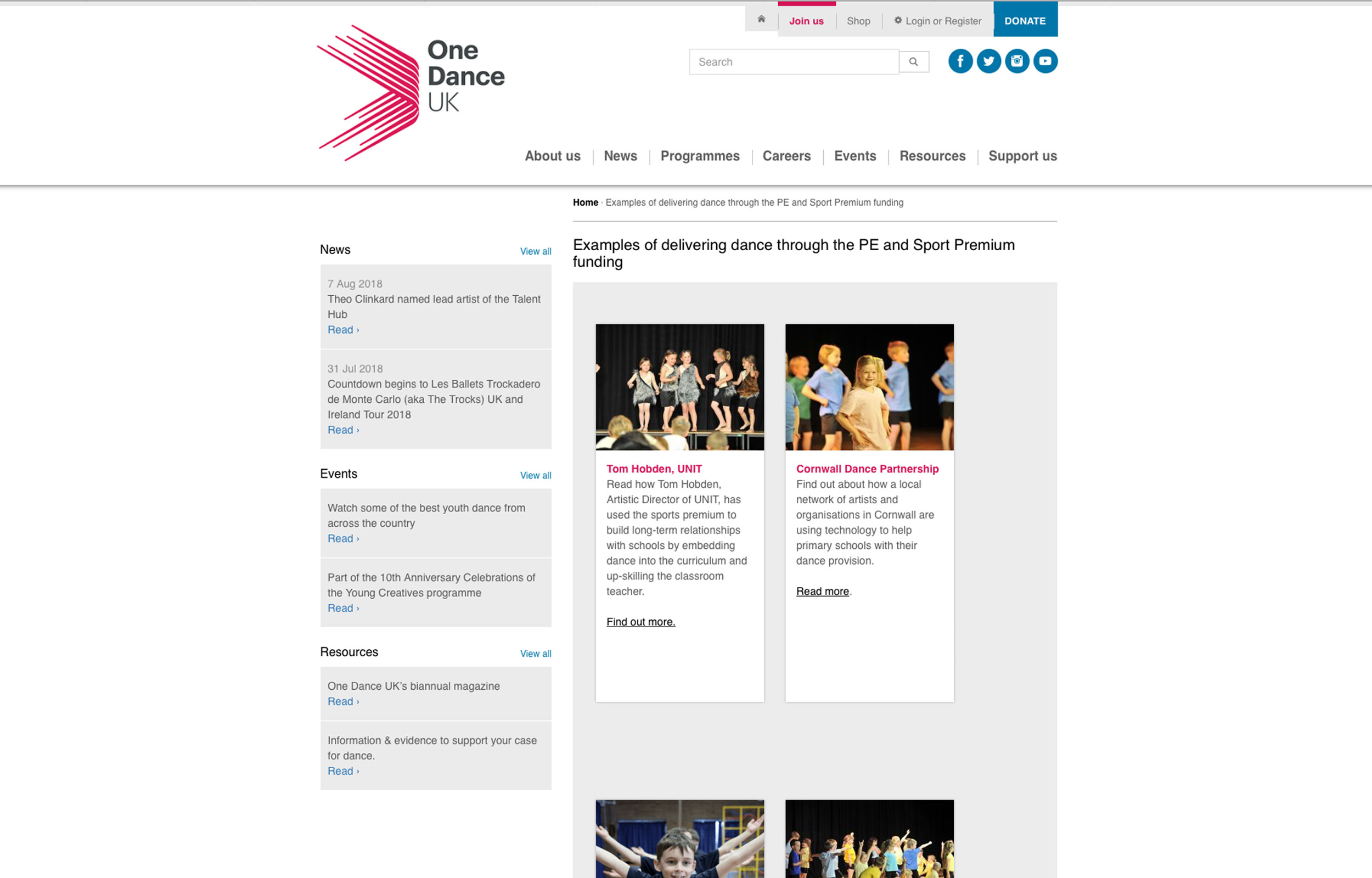 One Dance UK - As an example for One Dance UK, the sector support organisation, of delivering dance through the PE and Sport Premium funding.Read more
