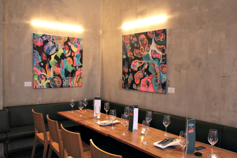 Art Show by Tanja Zinkl at the  Dellago Restaurant , 1160 Vienna