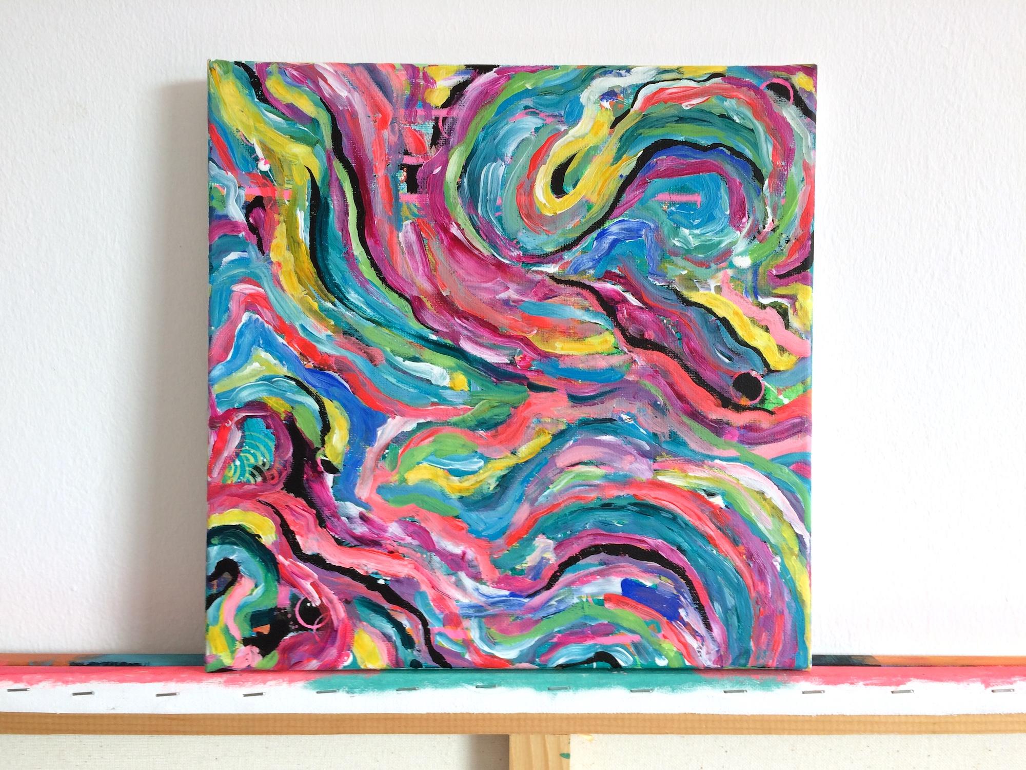 Hidden Gems - 30x30cm, acrylic on canvas