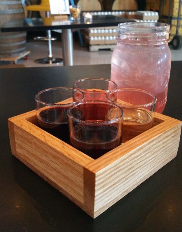 Get a flight of all four wines for $6.50, or the weekend's specialty cocktail.   Photo by Angie Bryan