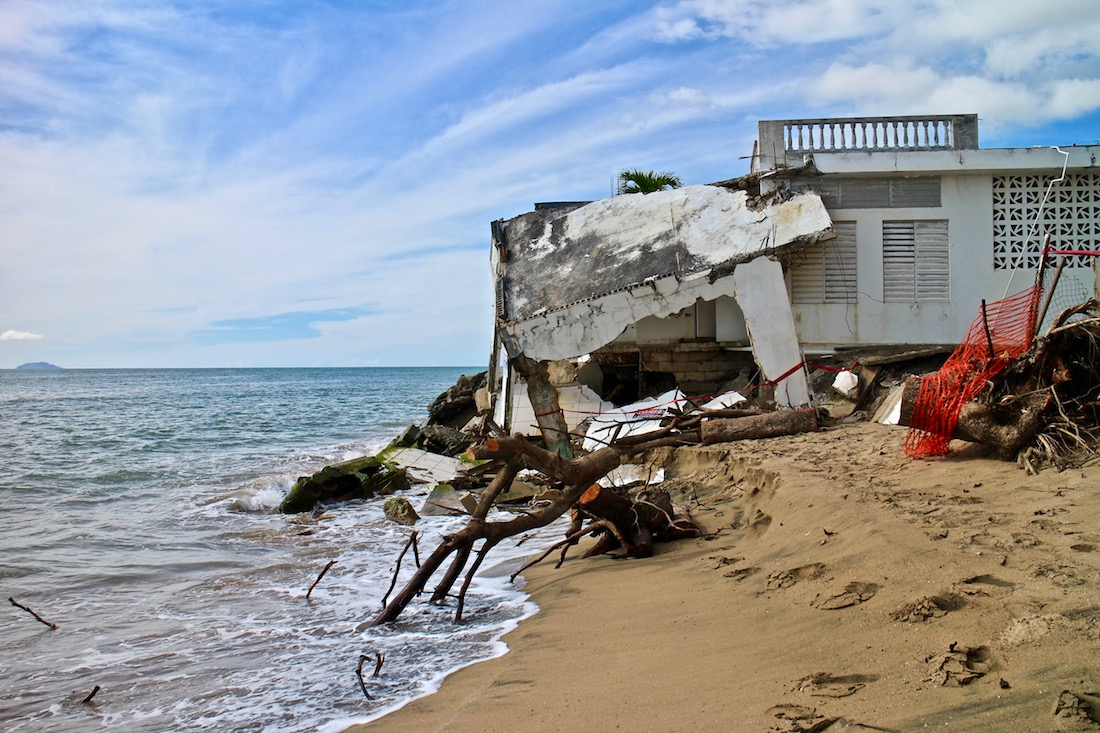 Coastal erosion in Rincon, Puerto Rico . All images by Janice Cantieri.