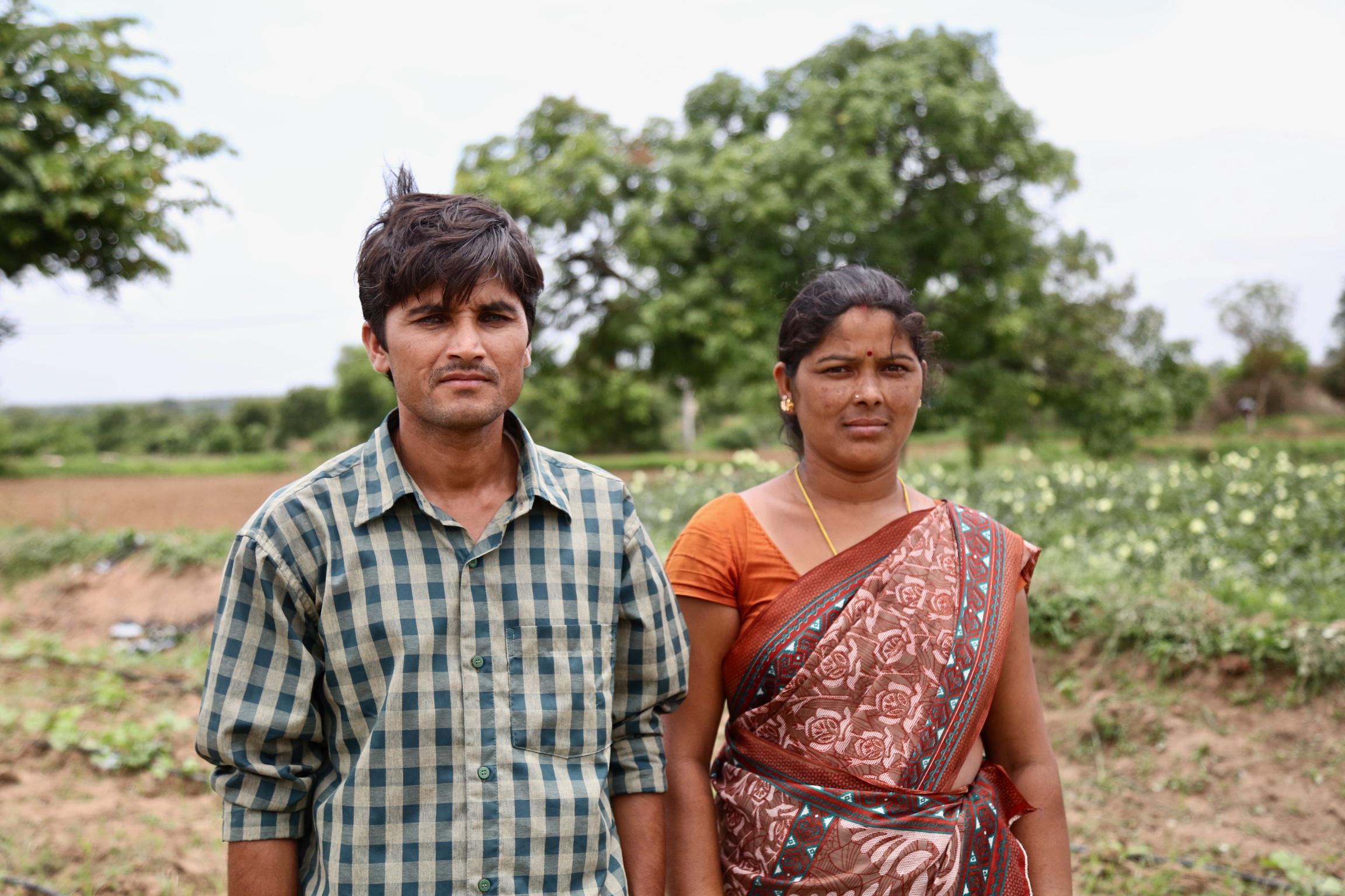 Kheyti Farmers Yadav and Bujji.