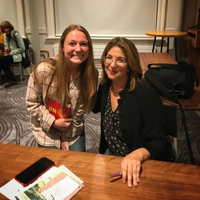 """Met my hero last night!! Naomi Klein's talk last night @ Town Hall Seattle was both motivating and scary ~ she says we all have to """"be the fire"""" to tackle the climate crisis before it's too late. Get her new book!"""