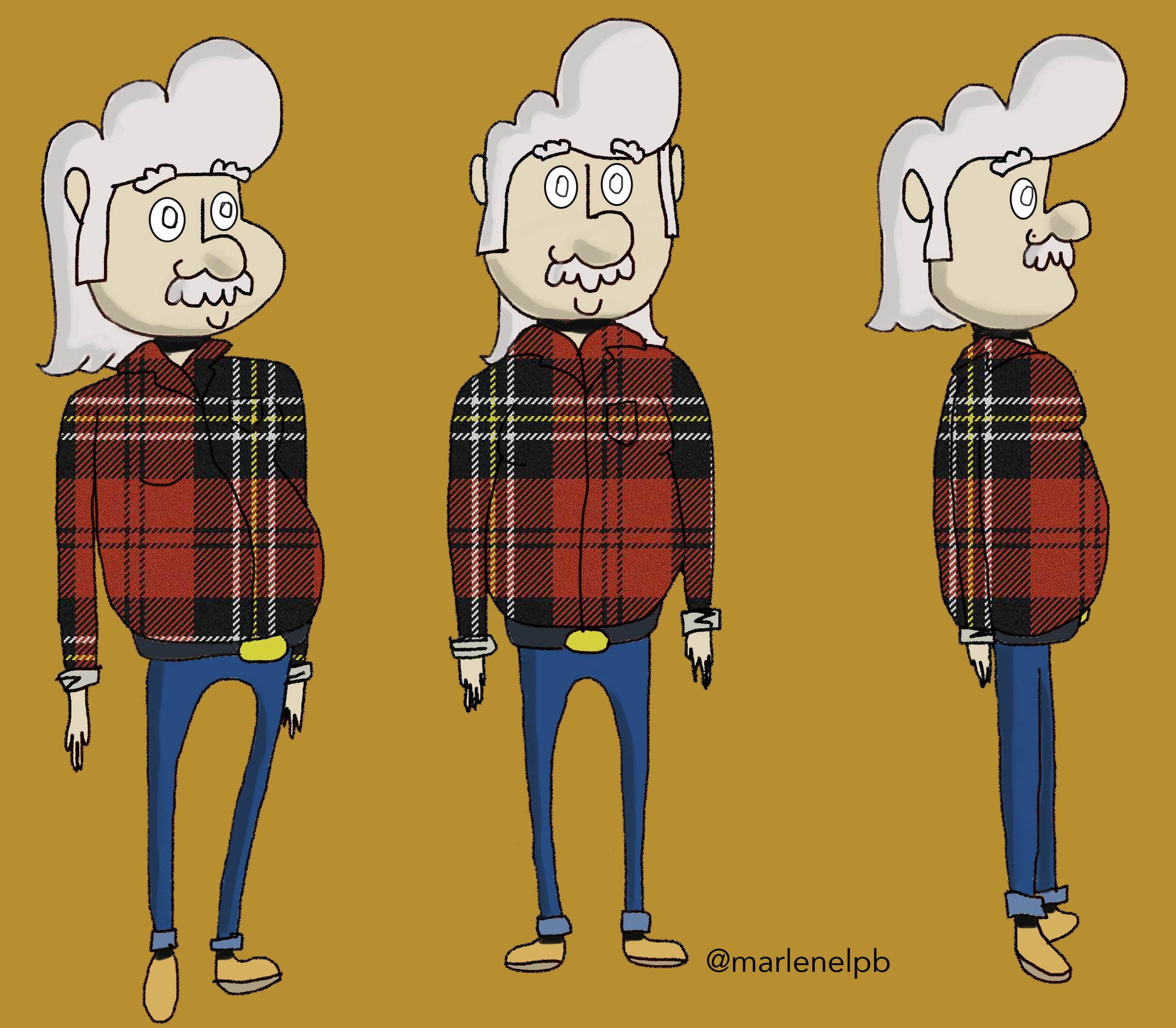 Uncle Charlie for CLOUDTOWN Cartoon concept. 2017.