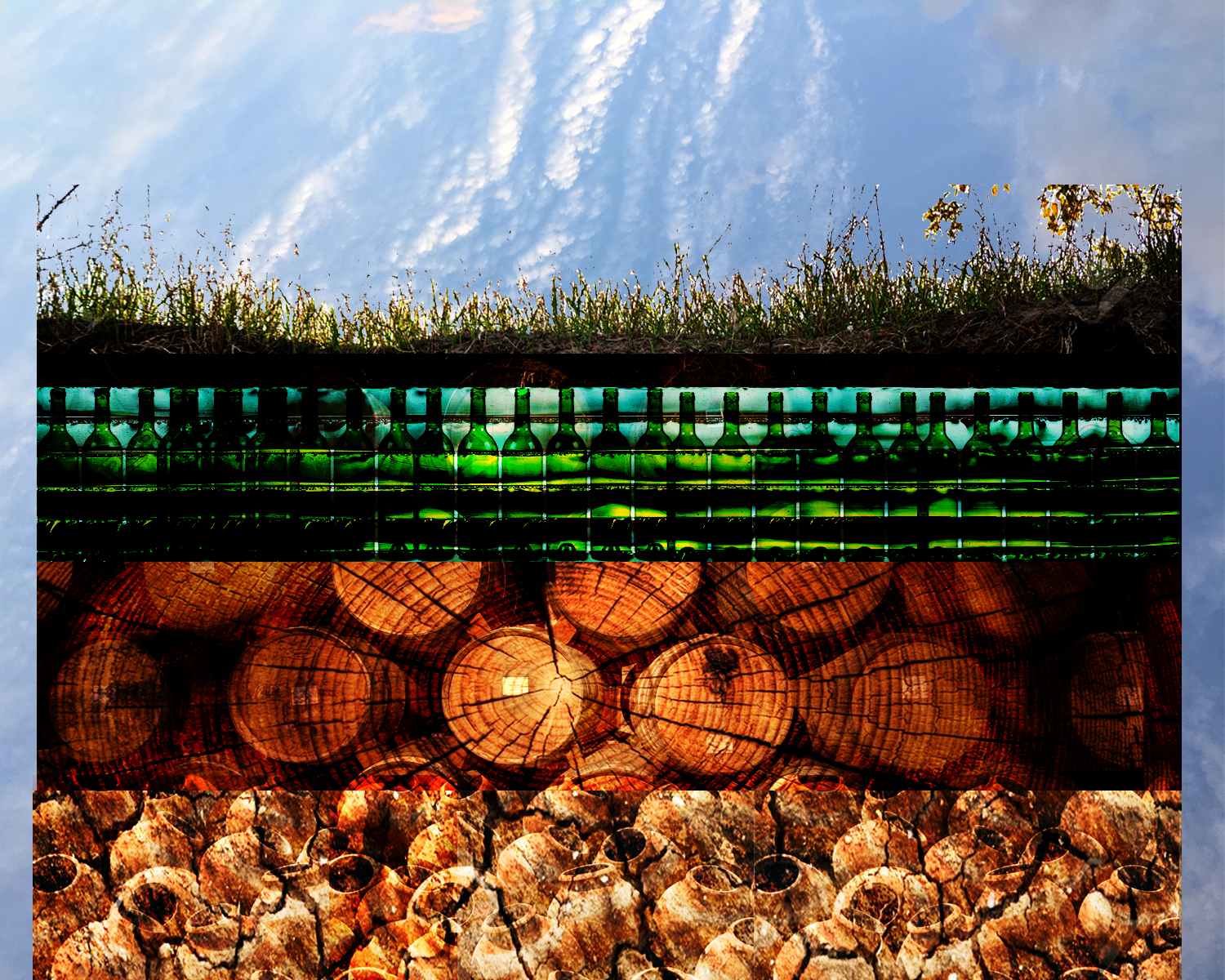 MATERIALS OF THE EARTH: - CLAY, WOOD, GLASS AND WINE VESSELS