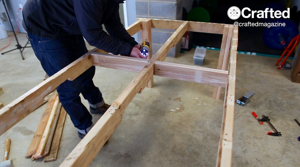 Crafted Outdoor Pallet Dining Table