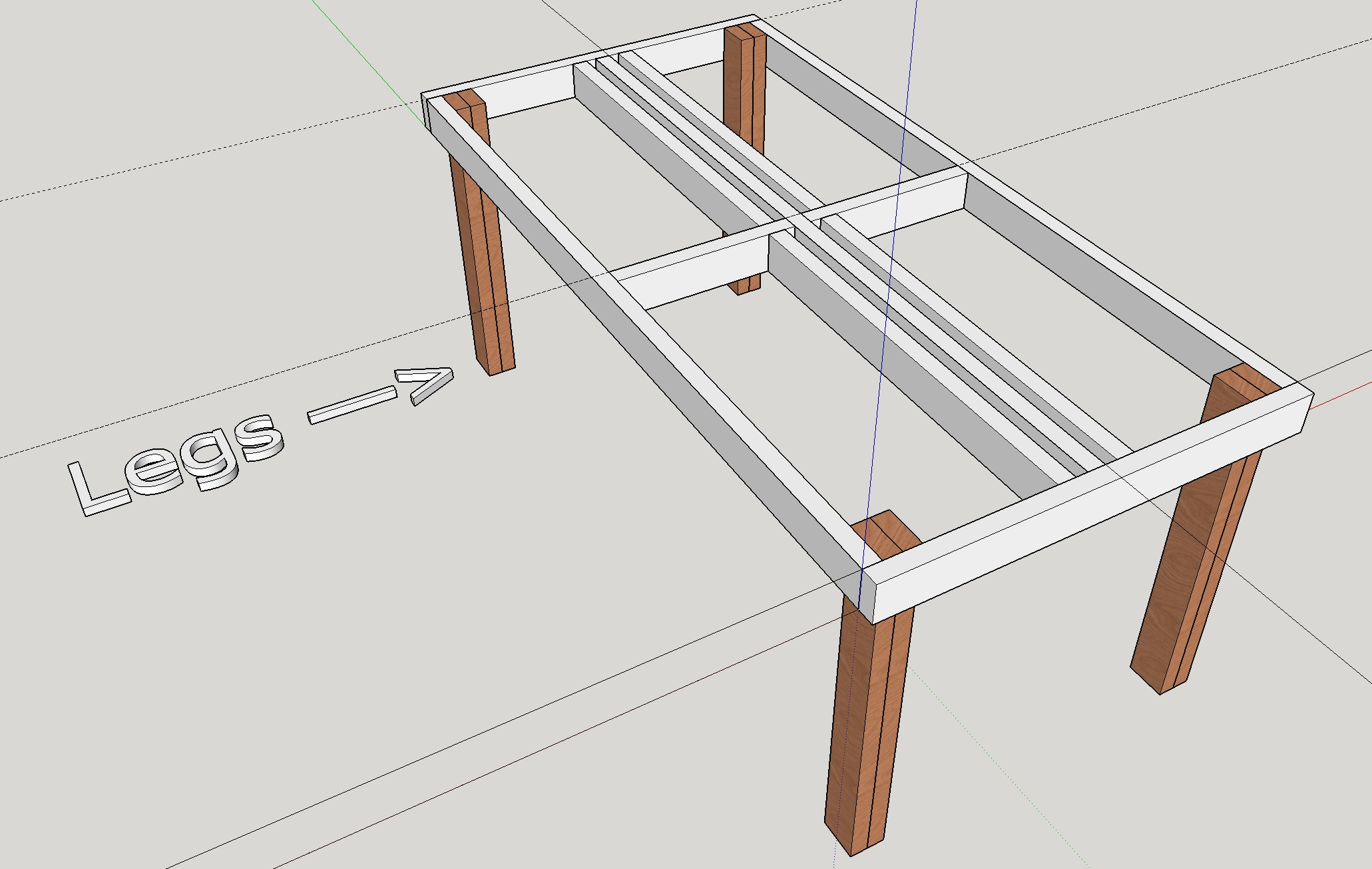 Outdoor Pallet Dining Table Mock Up