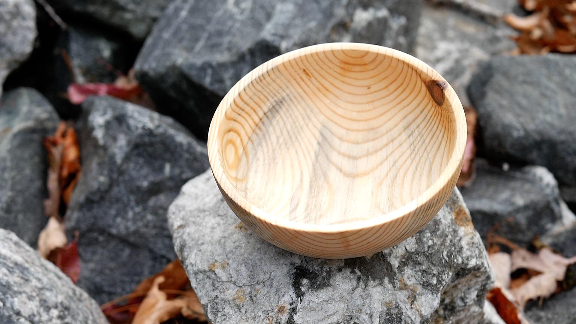 woodturning firewood Log To Bowl