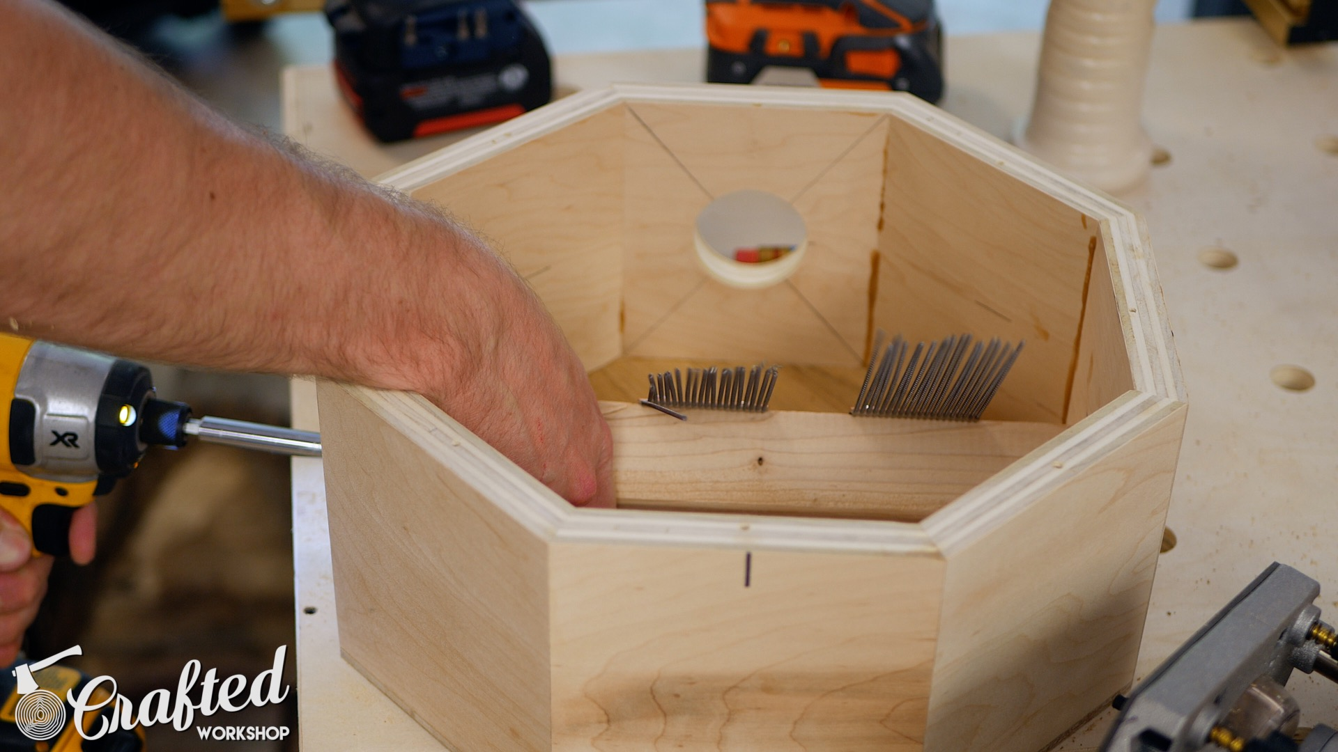 Wood Snare Drum cajon diy installing snare wire