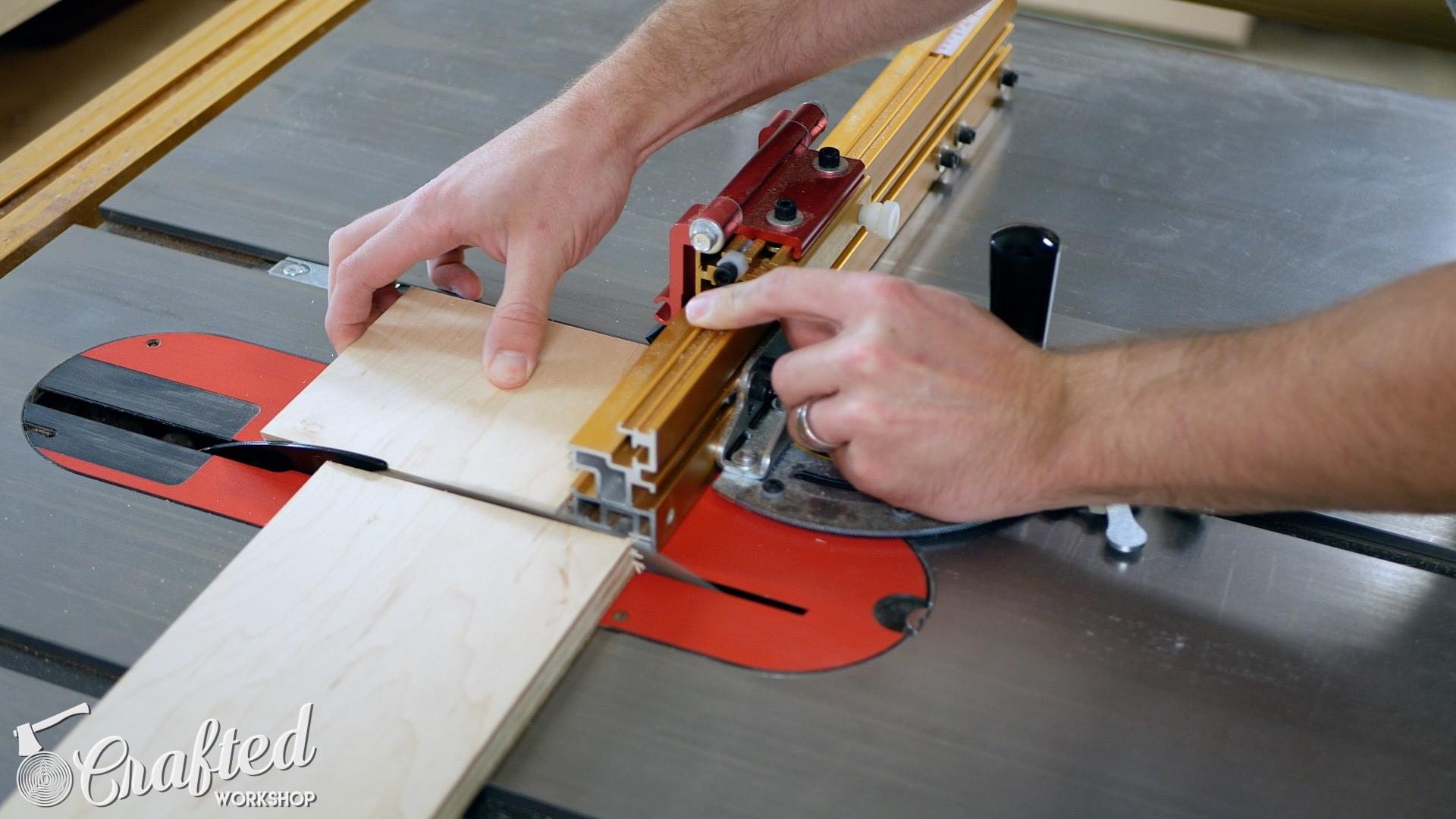 Wood Snare Drum cajon diy incra miter gauge cutting side panels