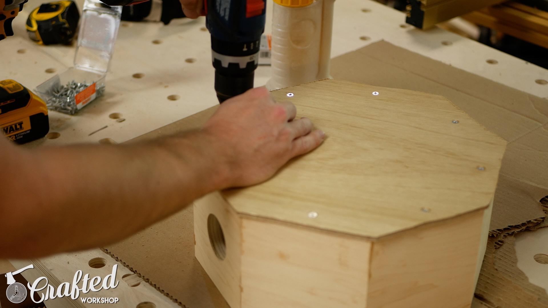 Wood Snare Drum cajon diy installing wood snare head