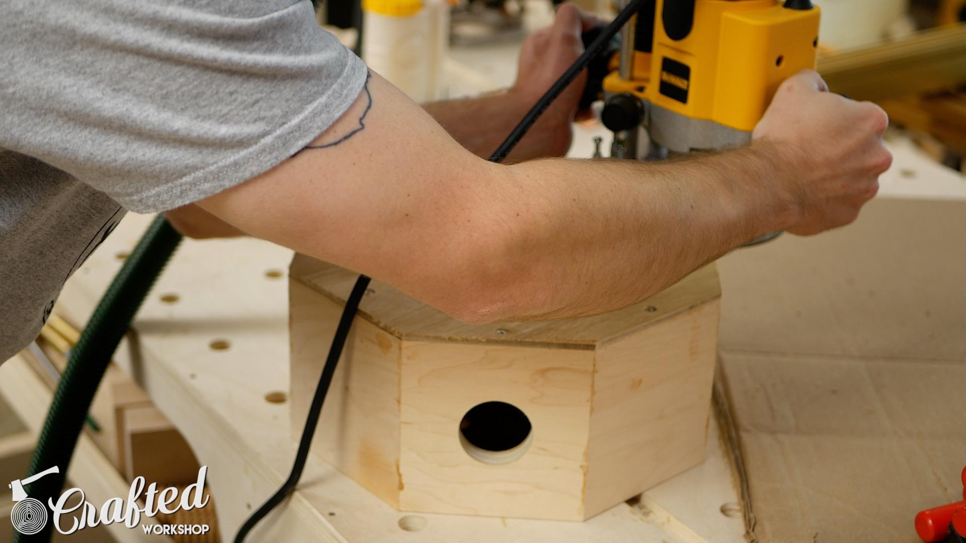 Wood Snare Drum cajon diy flush trim bit router