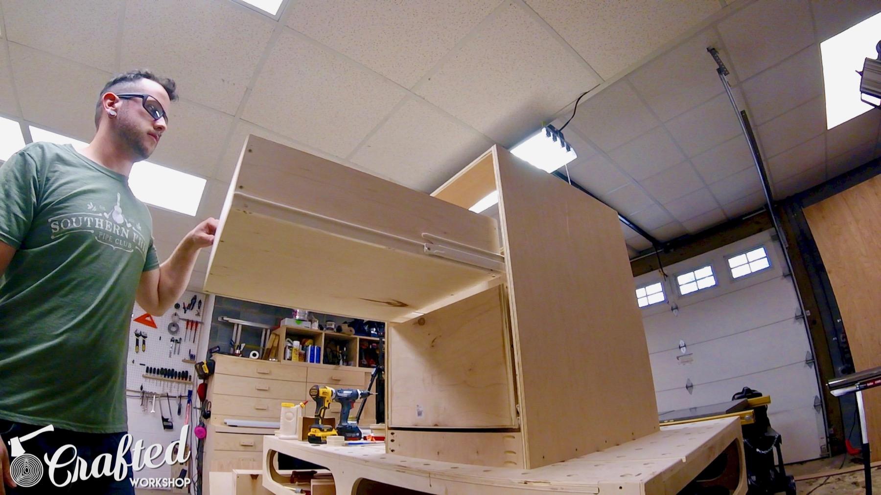 CNC Table Tool Storage Cabinet drawer slides blum 430e