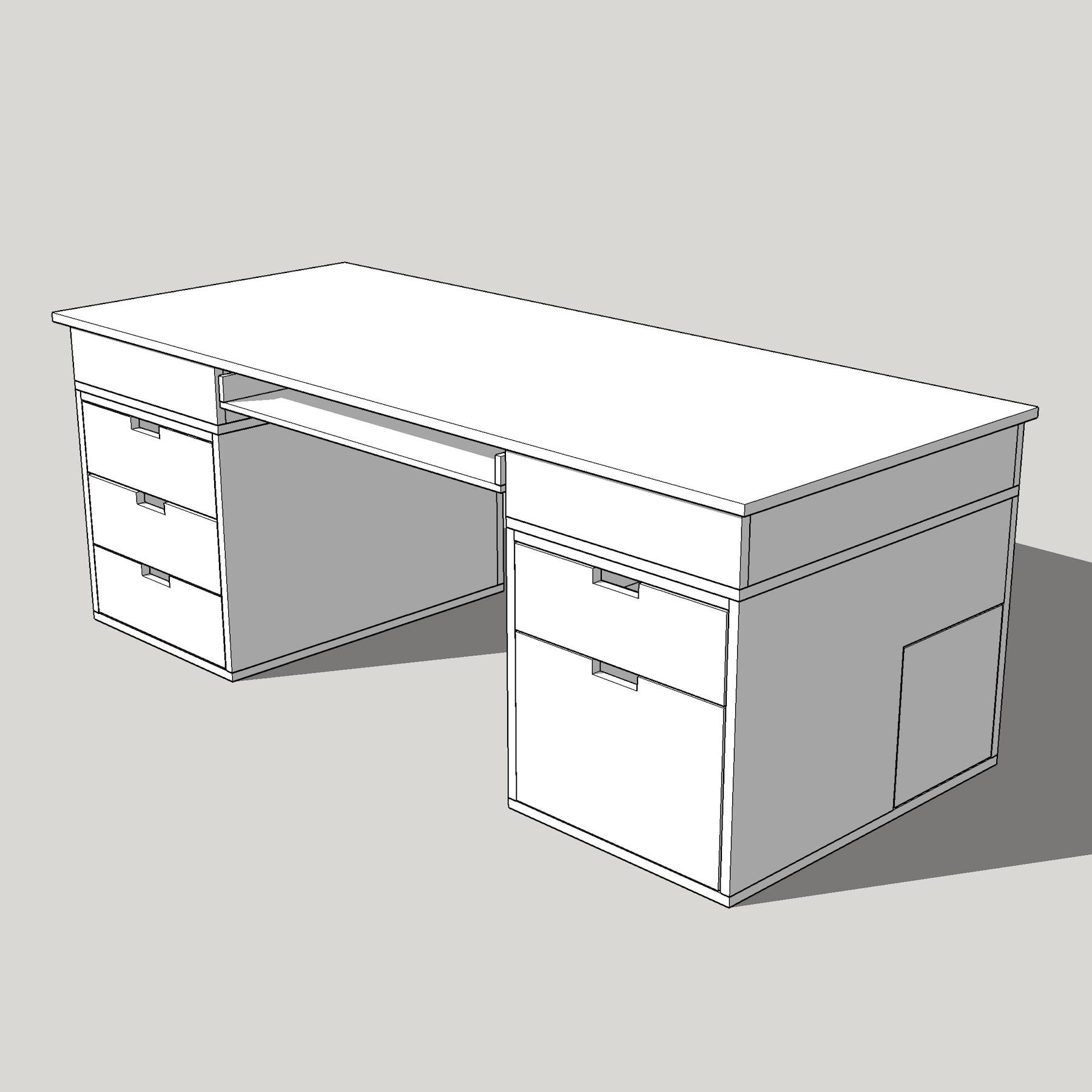 Computer Desk DIY Desk PC Plans