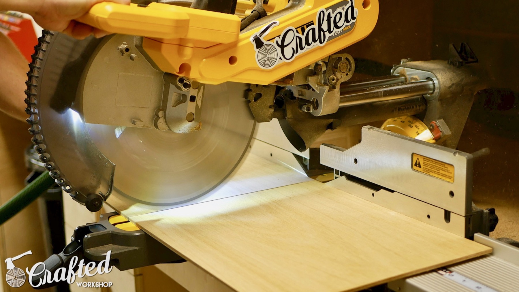 DIY Light Box Sign How-To Build dewalt flexvolt miter saw