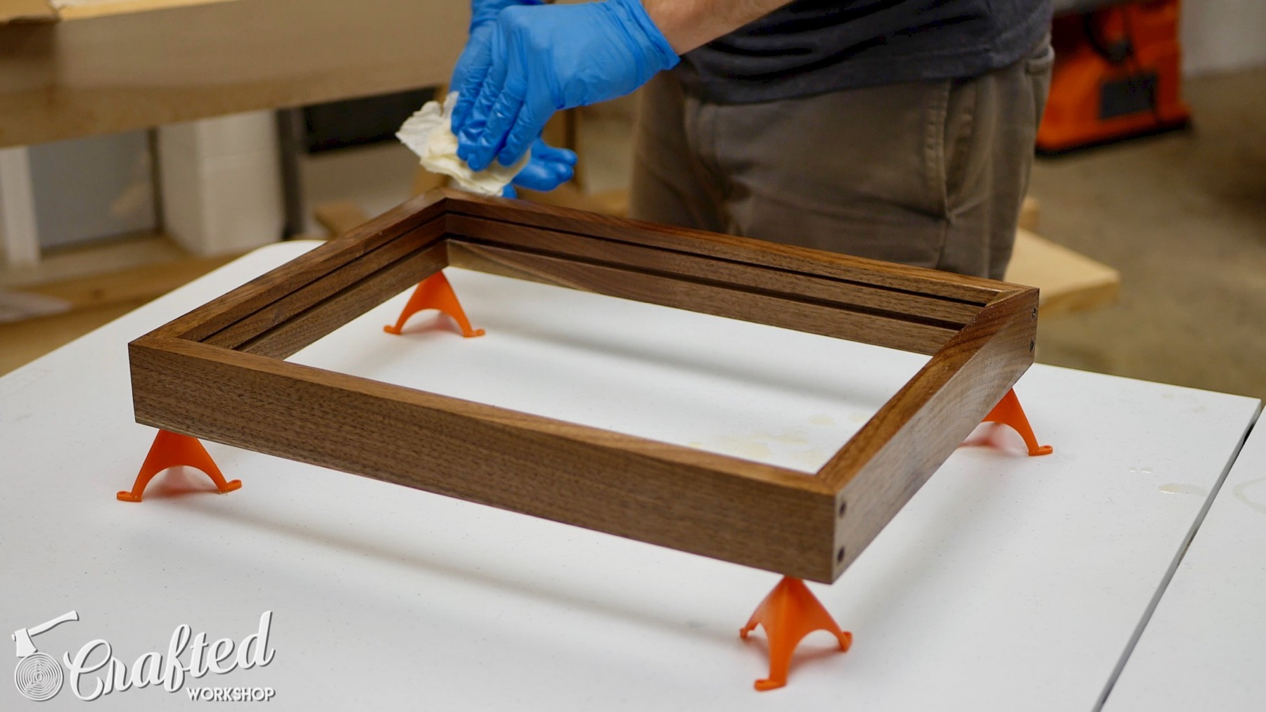 DIY Light Box Sign How-To Build waterlox walnut