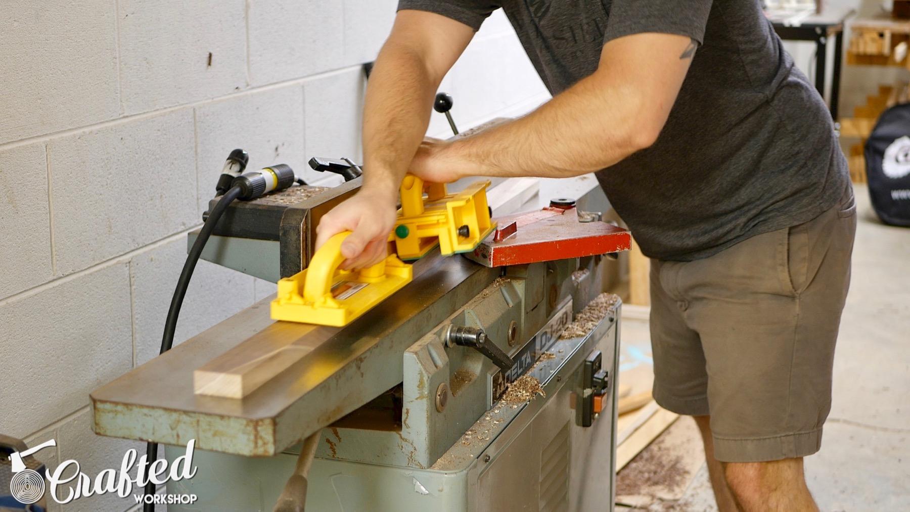 DIY Light Box Sign How-To Build jointer walnut delta dj20