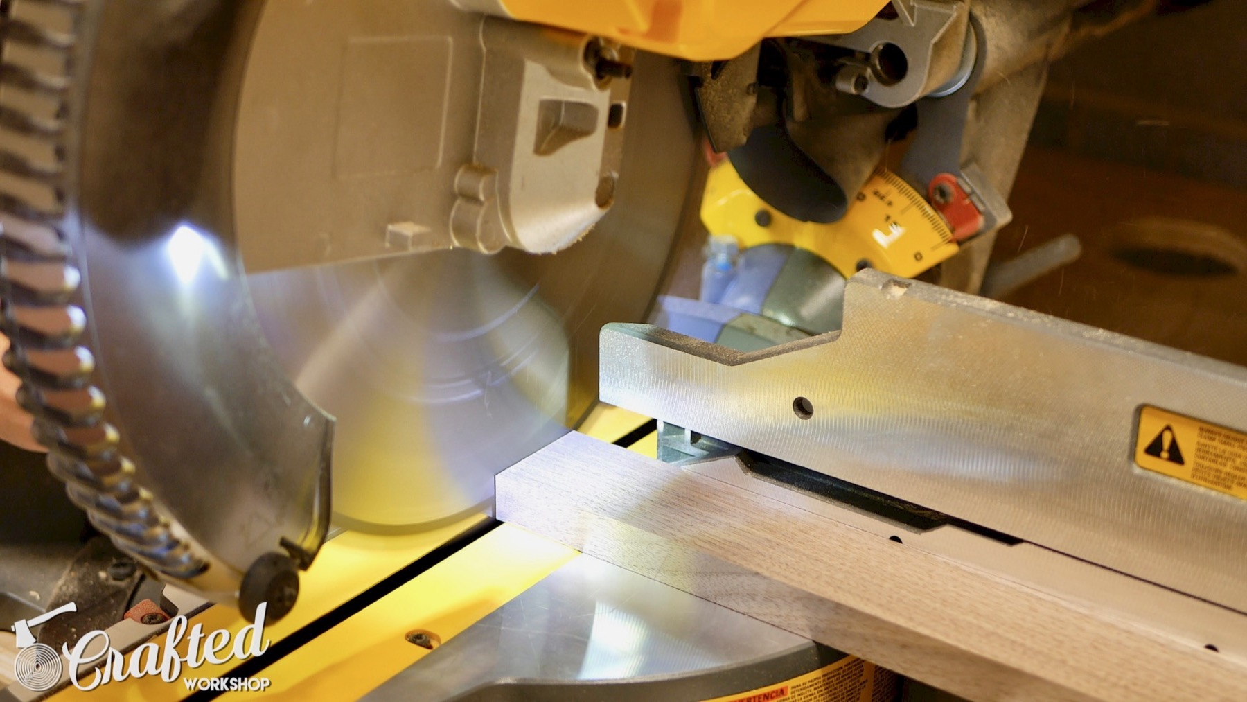 DIY Light Box Sign How-To Build dewalt flexvolt miter saw walnut