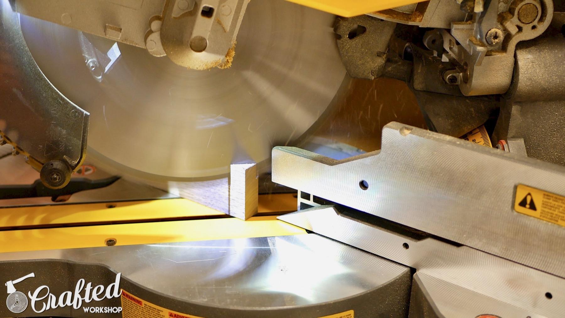 DIY Light Box Sign How-To Build dewalt flexvolt miter saw bevel walnut