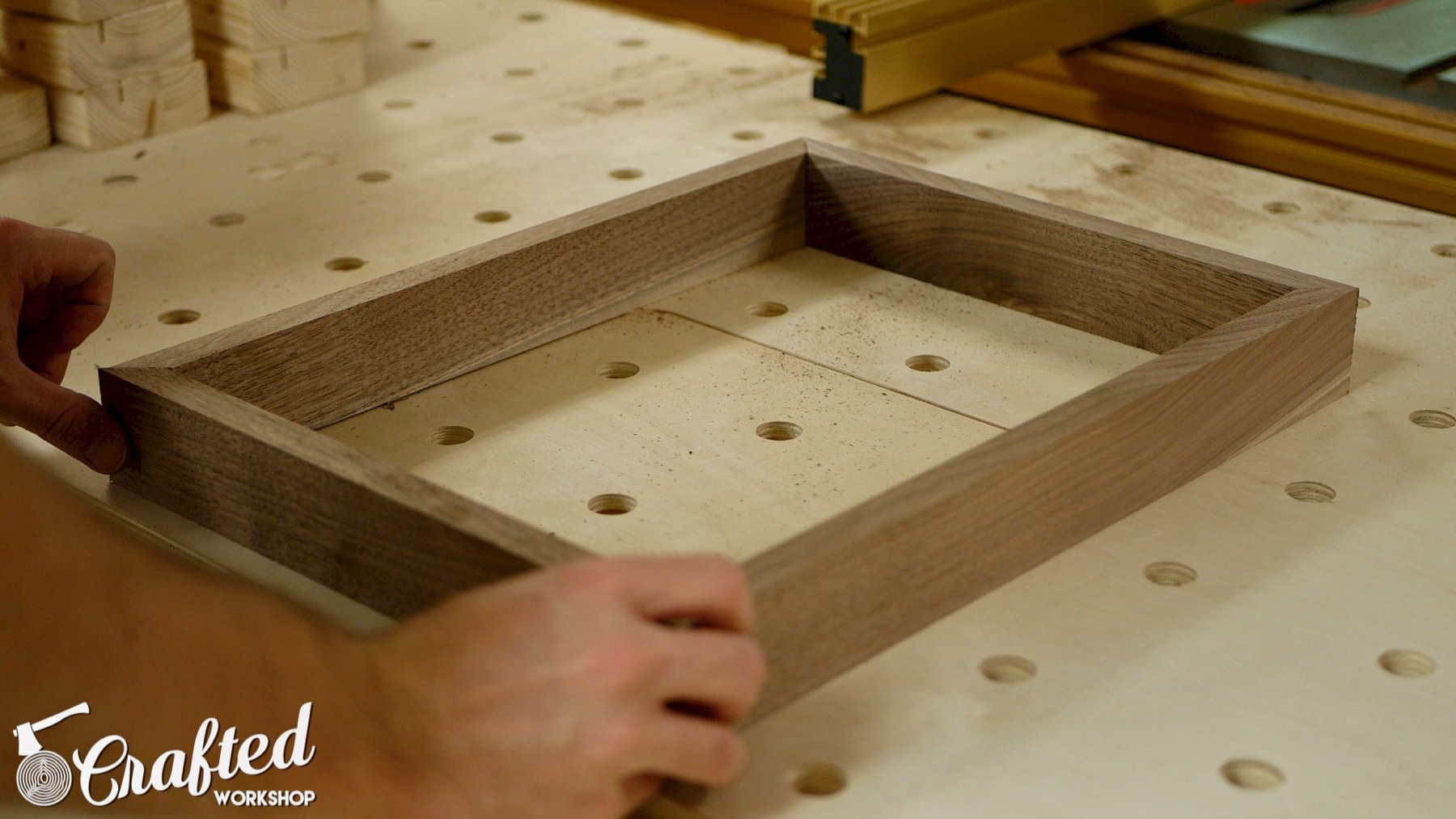 DIY Light Box Sign How-To Build walnut frame woodworking