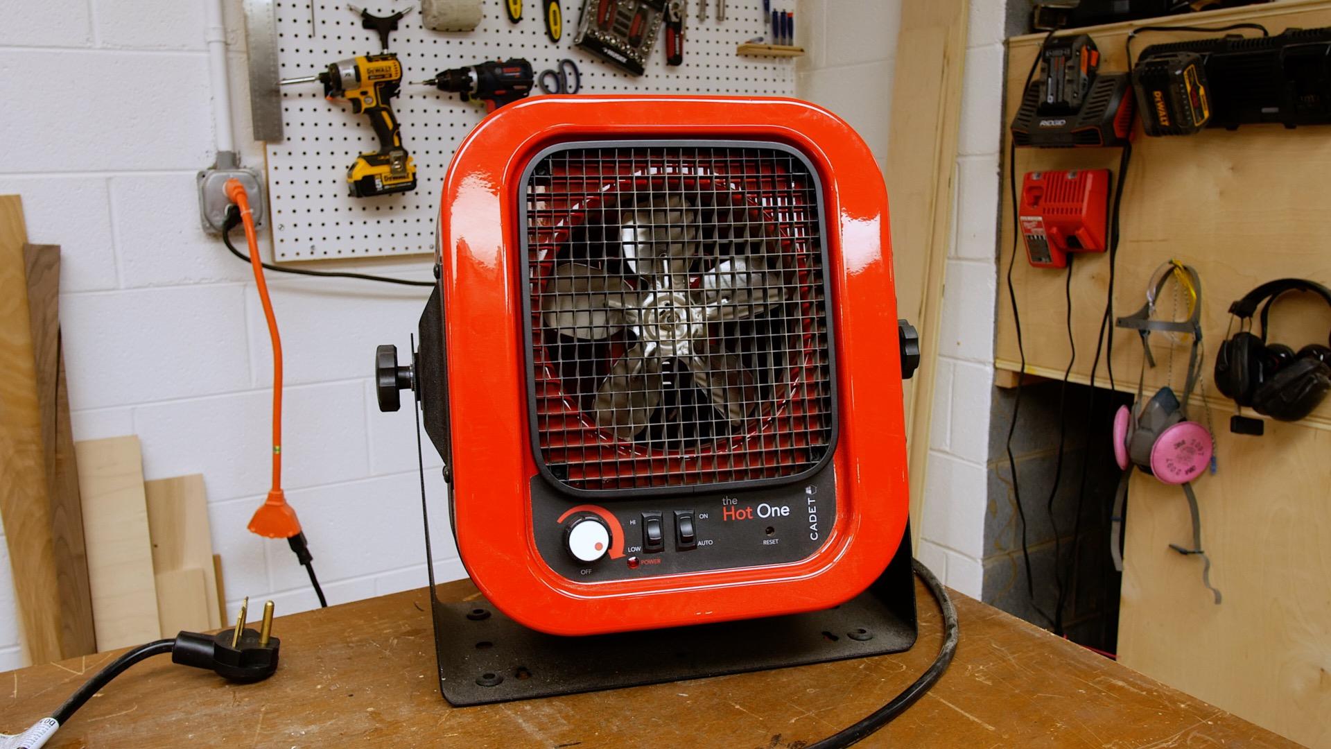 cadet the hot one garage shop basement electric heater heating
