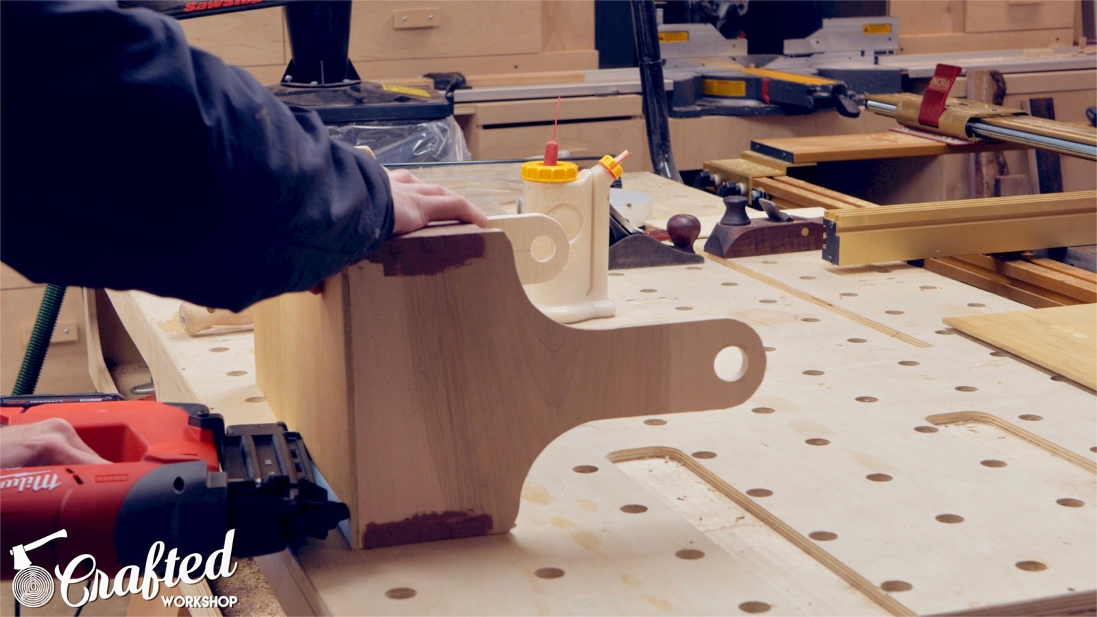 nailing on plywood bottom