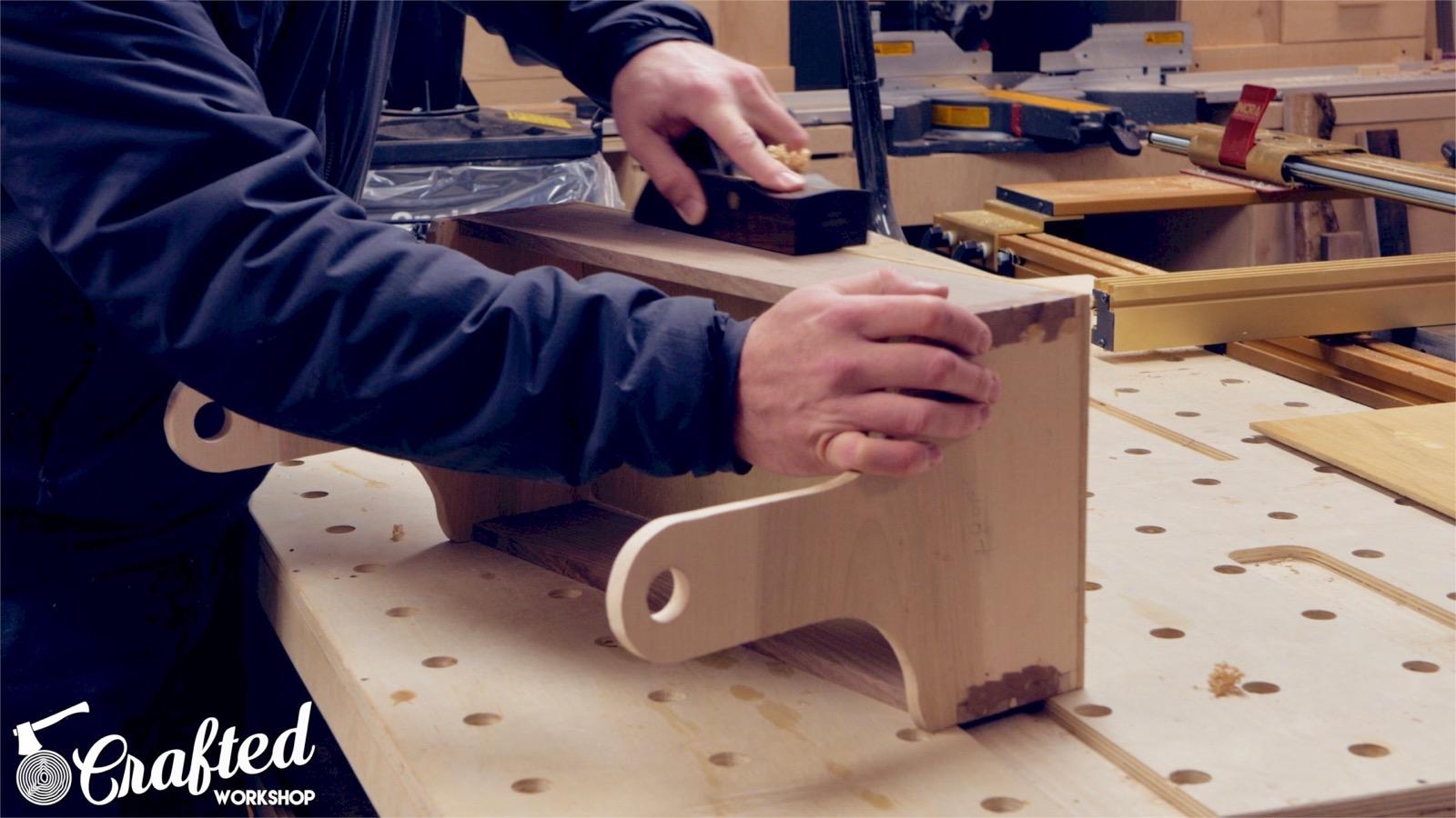 flushing edges using block plane