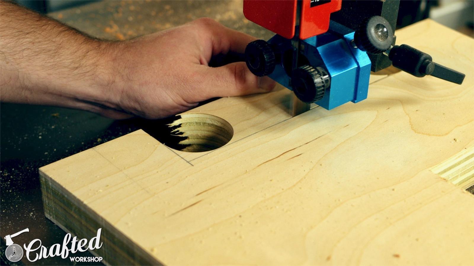 cutting plywood on laguna 1412 bandsaw