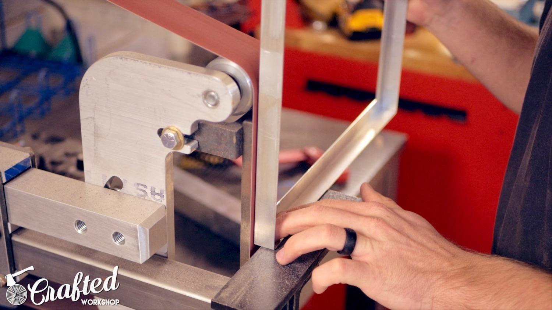 using a belt grinder on aluminum