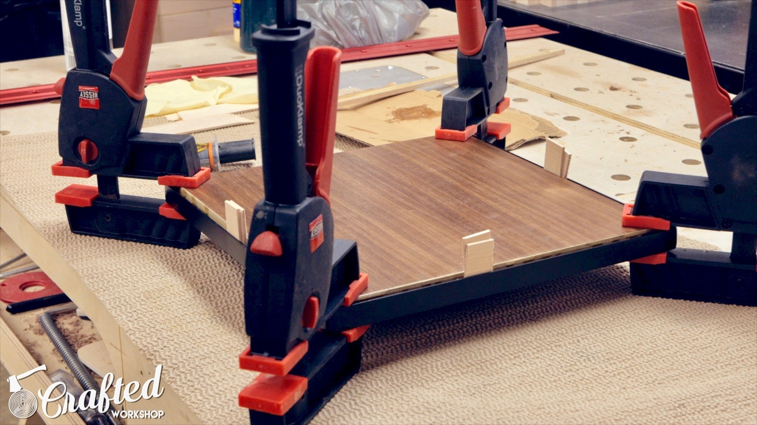 using epoxy to attach aluminum and plywood