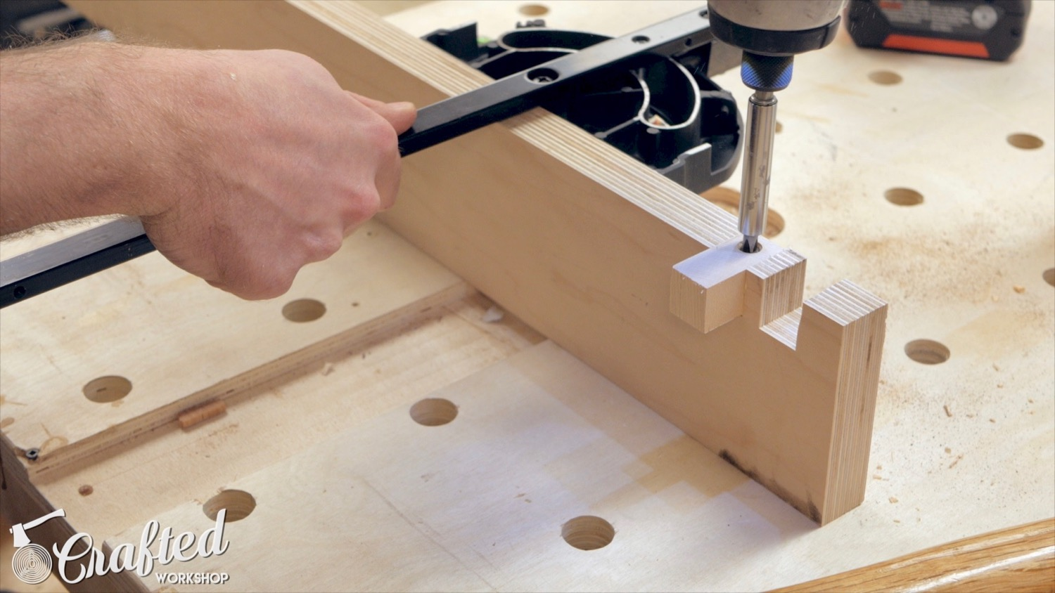 making a jig for miter gauge with plywood