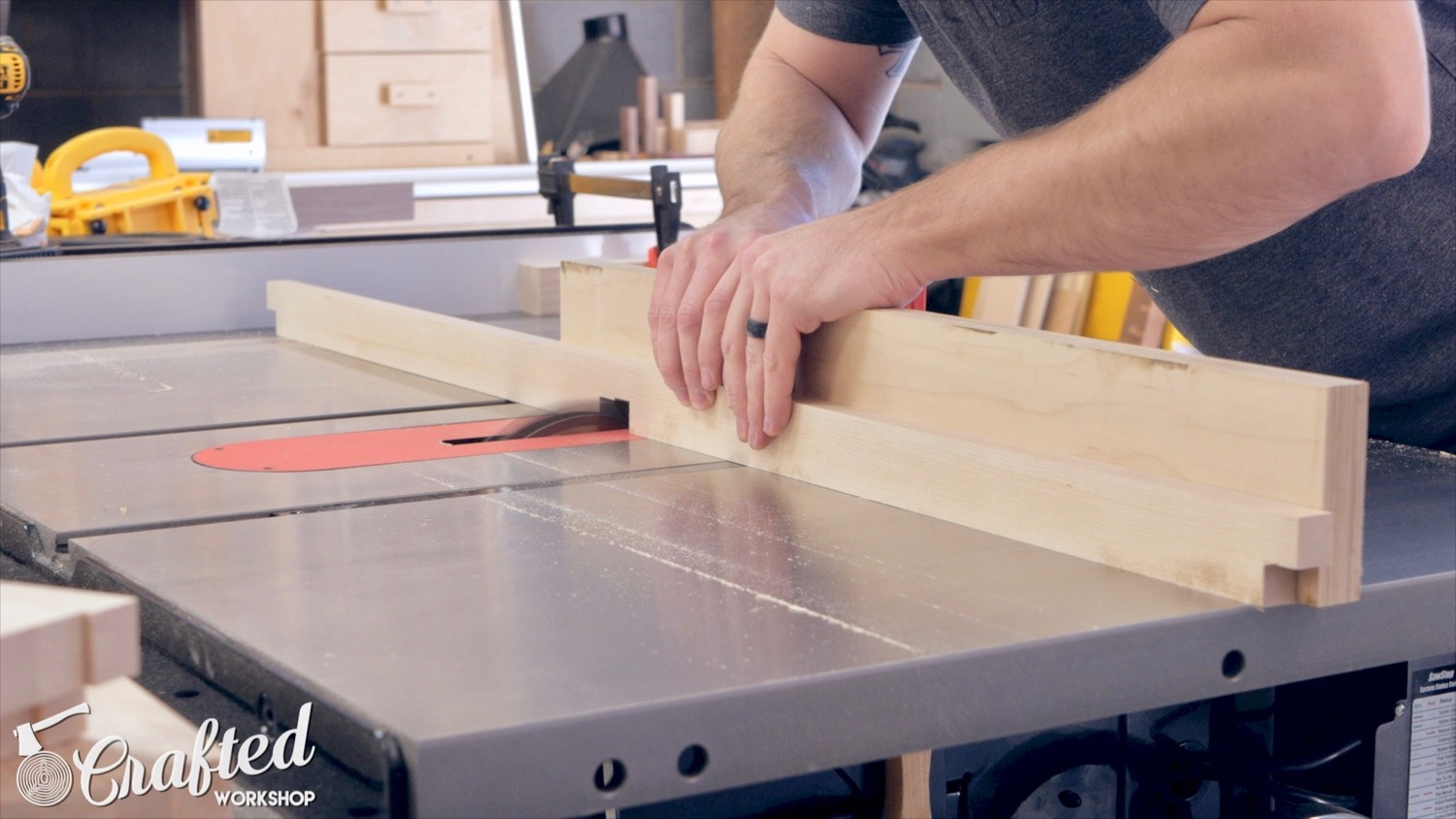cutting dado on sawstop table saw