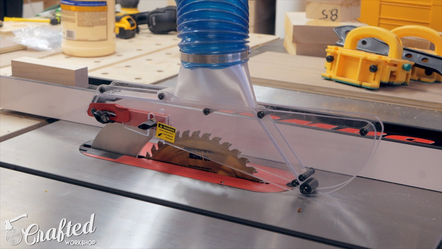 shark guard blade guard dust collection table saw