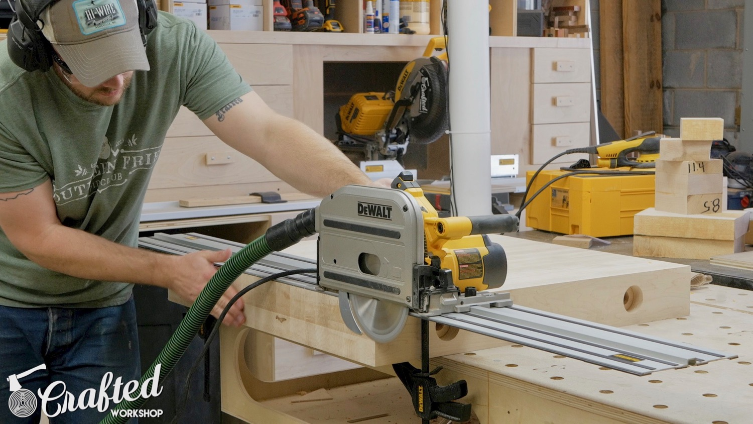 cutting hard maple with dewalt track saw